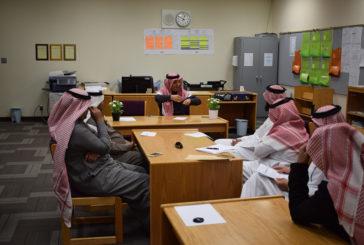 اجتماع قائد المجمع بالطاقم الإداري للقسم الثانوي