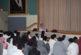 اجتماع قائد المجمع مع الطلاب في المسرح و الترحيب بهم